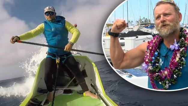 """En video: hispano cruza 2,500 millas en una """"paddleboard"""""""