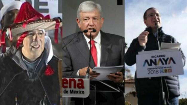 Arrancan campañas de 3 aspirantes presidenciales