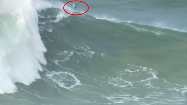 Impresionante: surfistas dominan zona de las olas más altas del mundo
