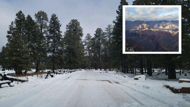 Fotos: Así luce la nieve en lugares escénicos de Arizona