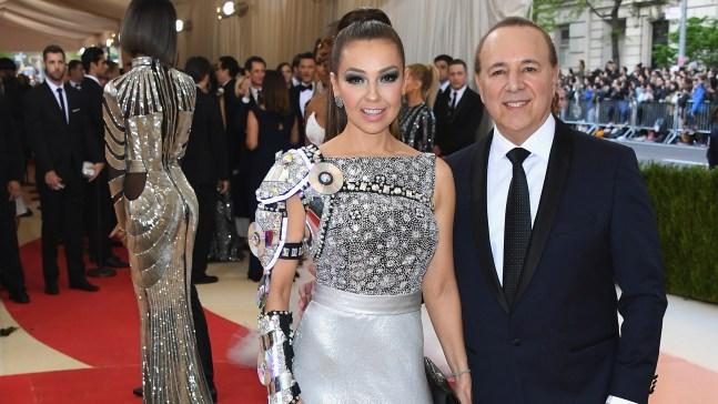 Thalía y su esposo presentan cortos sobre quinceañeras
