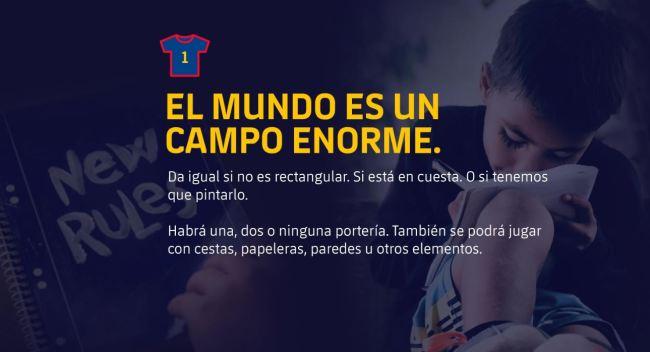 """El Barça lanza """"11 reglas para cambiar el mundo"""""""