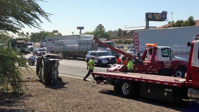 Accidente causa cierre de calles y tráfico en I-10