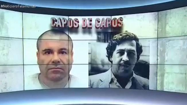 """Las similitudes entre """"El Chapo"""" y Pablo Escobar"""