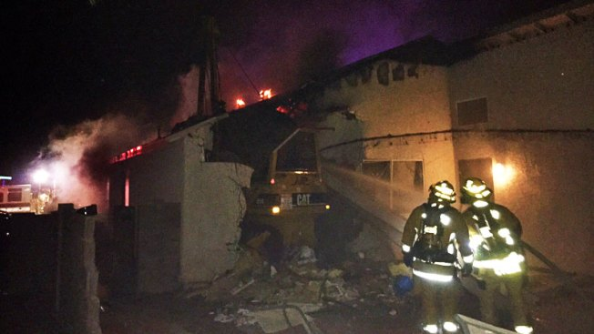 Tucson: Choca tractor robado y causa estragos en vivienda