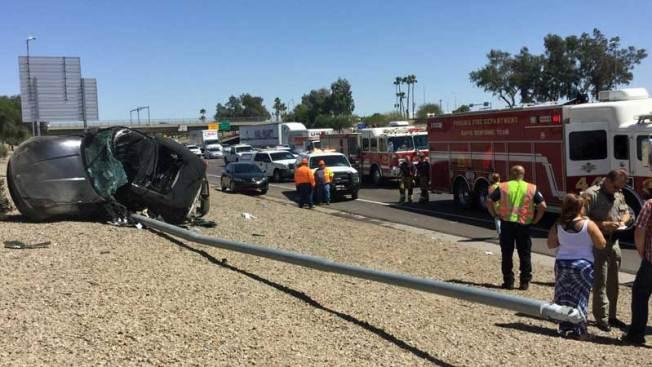 Accidente afecta a decenas de conductores
