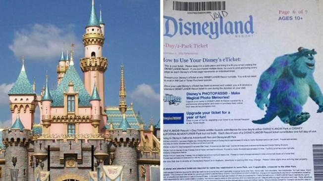 Estafan a personas con boletos para Disneyland