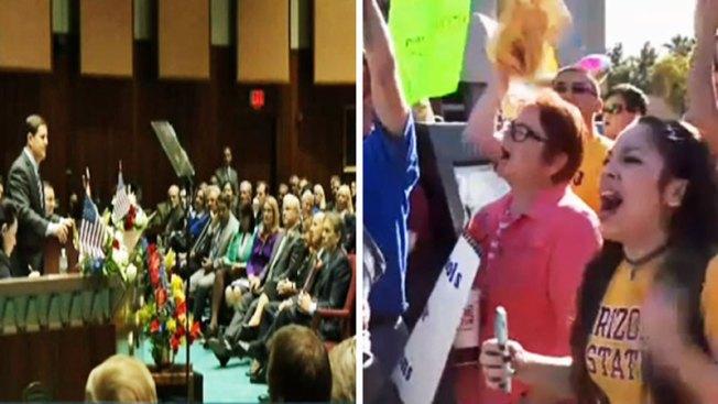 Estudiantes protestan por recorte de presupuesto