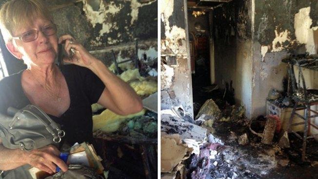 Mujer lo pierde todo por fuerte incendio en su casa