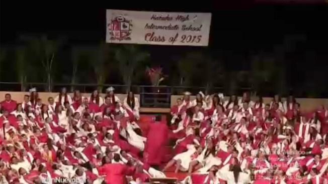 Una ceremonia de graduación que se hizo viral