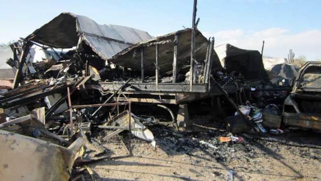 Buscan a dueño de casa tras gran incendio
