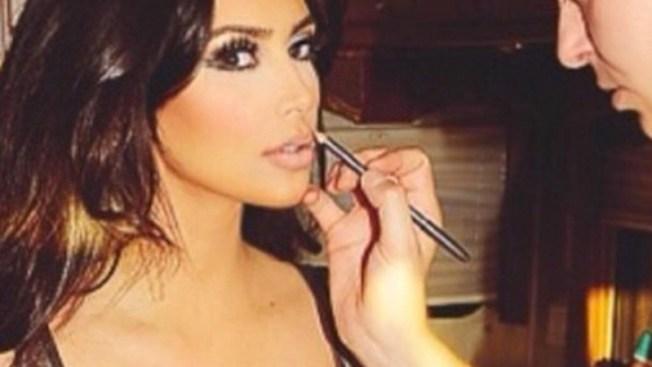 Enorme la barriga de Kim Kardashian