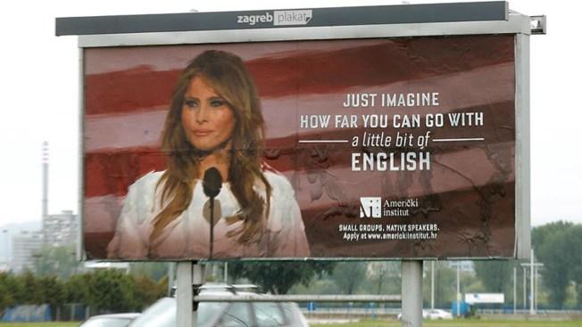 Melania Trump reclama que retiren cartel con su foto