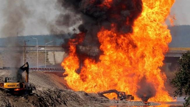 Explosión en gasoducto: un muerto y tres heridos