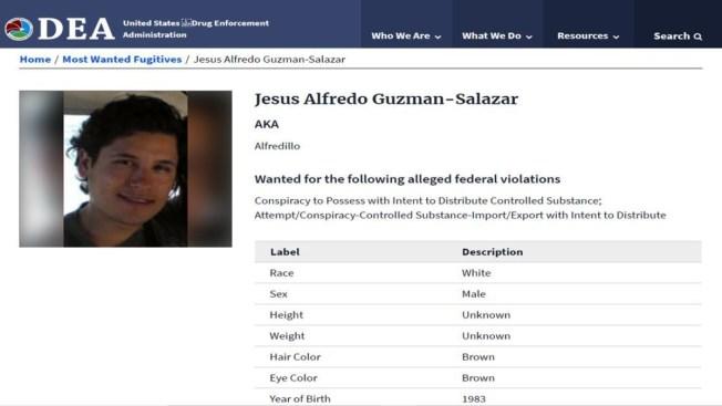 """Hijo de """"El Chapo"""", uno de los 10 más buscados de la DEA"""