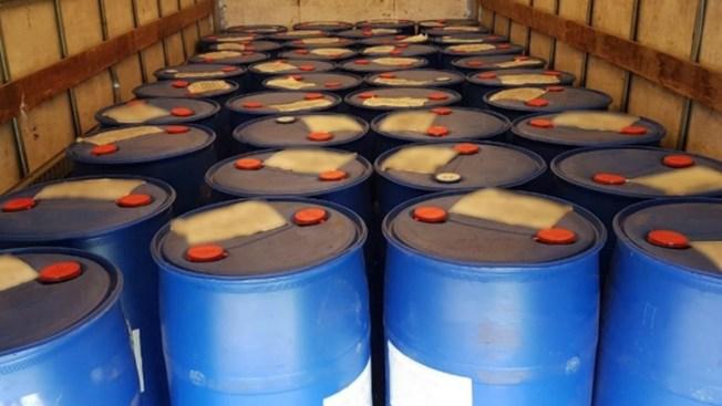 Interceptan 8 toneladas de químicos para drogas