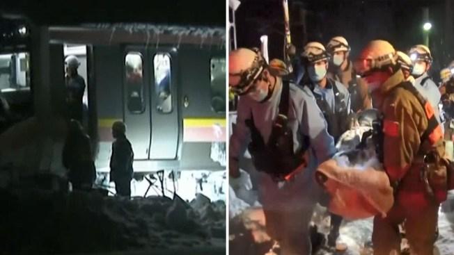 Rescatan a cientos de personas atrapadas en tren por nevadas en Japón