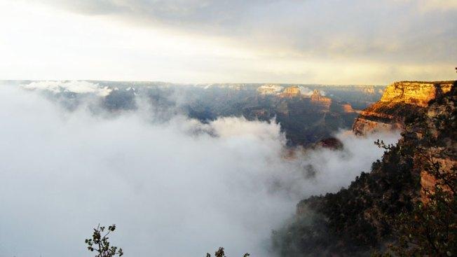 """Nubes """"inundan"""" el Gran Cañón del Colorado"""