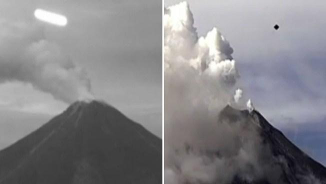 ¿Vuelan ovnis sobre el volcán de Colima?
