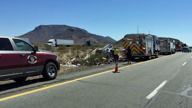 Niños y adultos heridos tras accidente en I-10