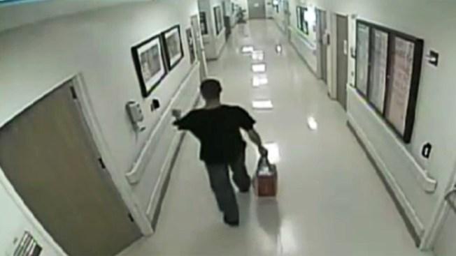 Padre trata de secuestrar a bebé en hospital