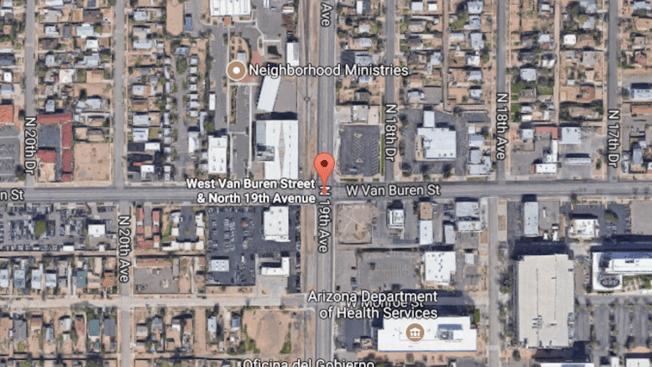 Tren atropella a peatón en Phoenix