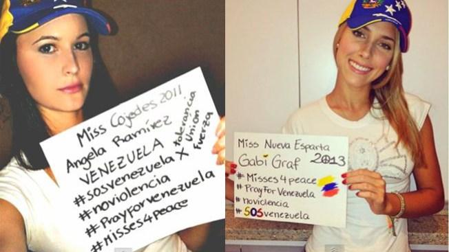 Misses exigen paz para Venezuela
