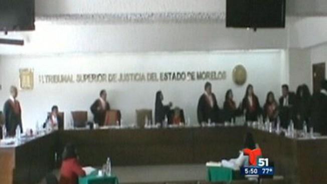 Bronca en tribunal mexicano
