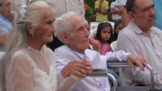 ¡Se casaron! Después de 80 años juntos