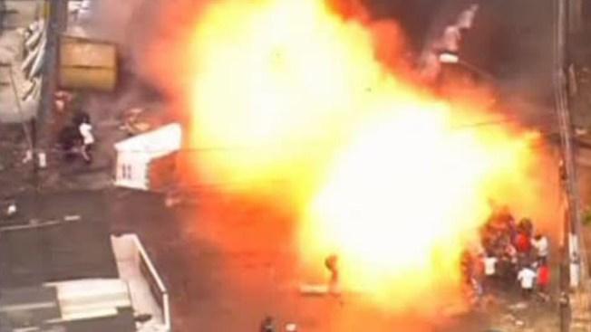 Violentas manifestaciones en Brasil