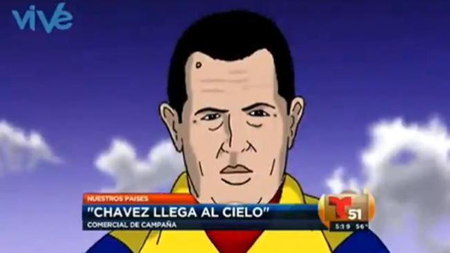 Un Chávez sonriente  llega al cielo