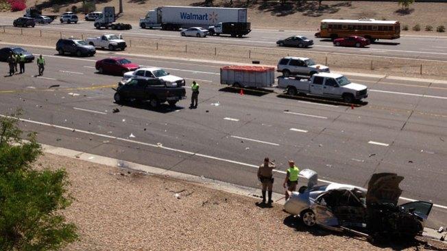 Caos por accidente en Phoenix