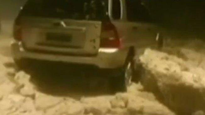 Cae rara tormenta de granizo en Brasil