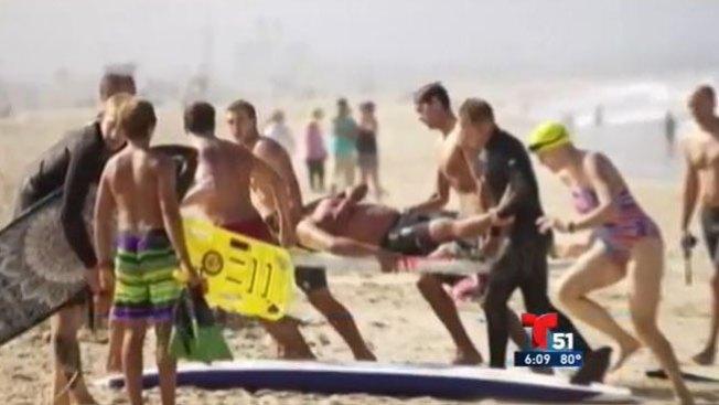 Surfista salva a hispano de un tiburón