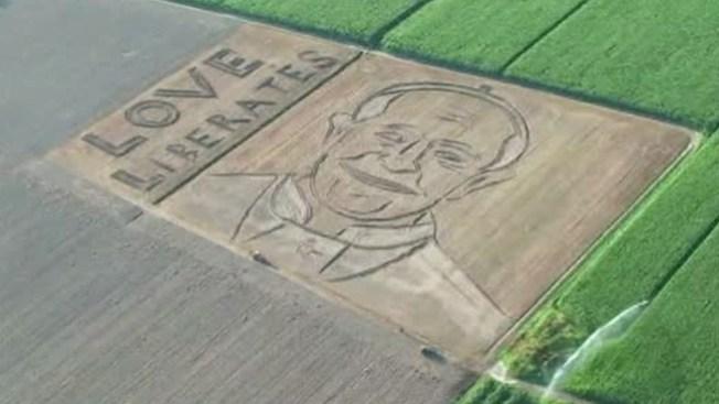 Espectacular imagen del Papa en campo
