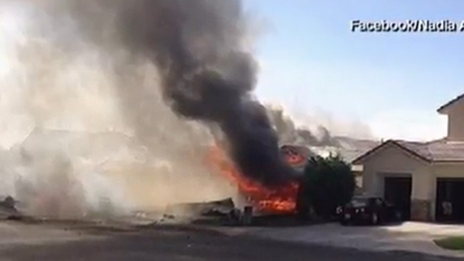 Piloto de jet estrellado salva su vida