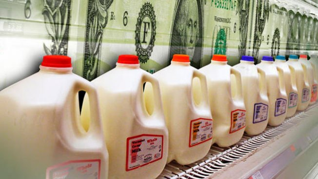 El galón de leche podría costar $8