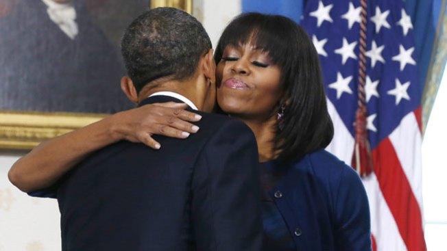 Obama se confiesa enamorado