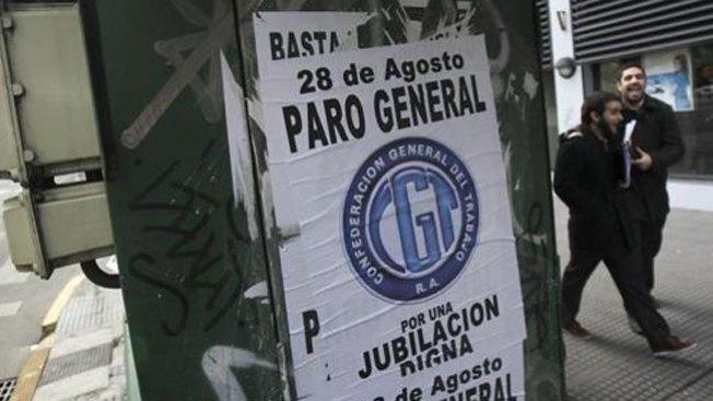 Segundo paro general en Argentina