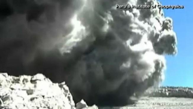 Erupción volcánica grabada en video