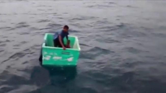 Rescatan a pescador tras días a la deriva
