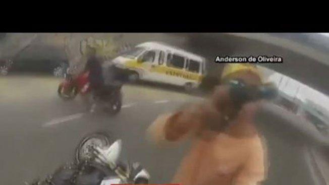 Impactante video de un robo en Brasil
