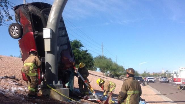 Aparatoso accidente en carretera 51