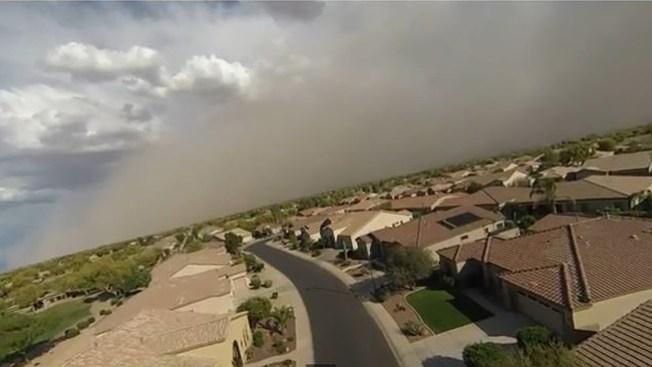 Tormenta de arena captada en video