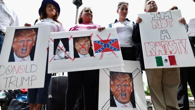 Hispanos llevan protestas al Debate Republicano