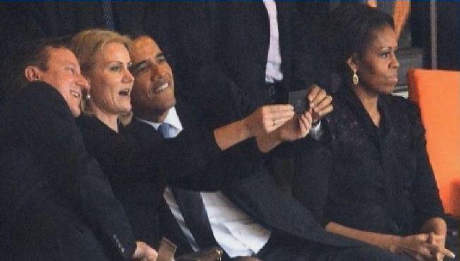 """El """"selfie"""" de Obama causa gran revuelo"""