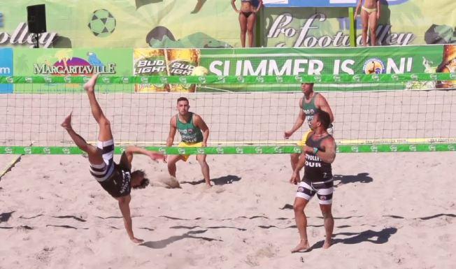 """Buscan hacer del """"footvolley"""" un deporte oficial"""
