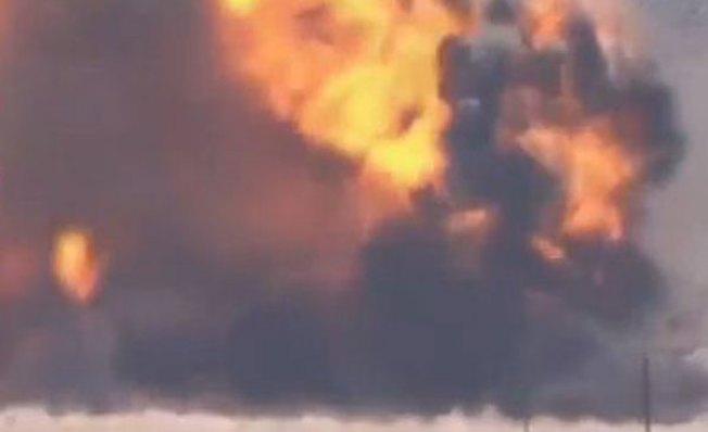 Captan auto por los aires en Siria