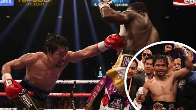 Los feroces puñetazos de Pacquiao dominan a Broner en Las Vegas