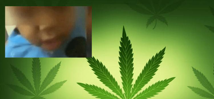 Video: Graban a bebé fumando marihuana